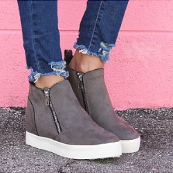 Berrylook Casual thick bottom side zip solid color boots clothes shopping near me, sale, Solid Sneakers,