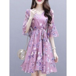 Berrylook Waist Floral Dress clothes shopping near me, online shop, shirt dress, semi formal dresses found on MODAPINS from Berrylook for USD $8.95