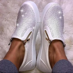 Berrylook Rhinestone flat sneakers clothing stores, clothes shopping near me,