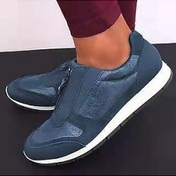 Berrylook Casual round toe lightweight and comfortable women's shoes clothes shopping near me, sale, Solid Sneakers,