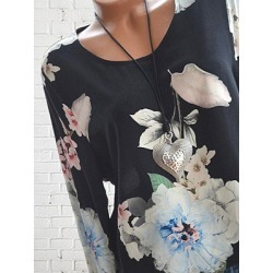 Berrylook Autumn Spring Cotton Women Round Neck Floral Printed Long Sleeve Blouses cheap online shopping sites, cheap online stores, tops for women, white shirt womens