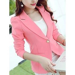 Berrylook Fold Over Collar Plain Blazer online shop online sale plain Blazers tweed blazer womens fitted blazer womens