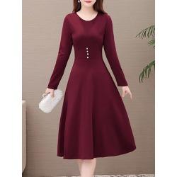 Berrylook V Neck Plain Skater Dress online sale, sale, Solid Skater Dresses, ladies dress, floral skater dress