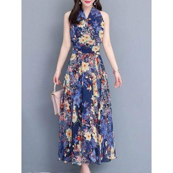 Berrylook V Neck Print Maxi Dress clothing stores, online shopping sites, shirt dress, long formal dresses found on MODAPINS from Berrylook for USD $13.81