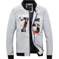 Berrylook Band Collar Pocket Number Printed Men Jacket shoppers stop, online shop, Print Men Jackets,