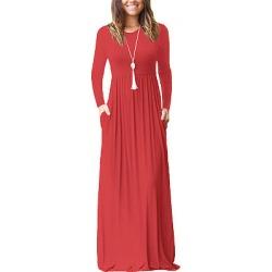 Berrylook Round Neck Plain Maxi Dress online shop, online, vintage dresses, sheath dress