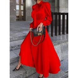 Berrylook Long Sleeve Solid Color Big Swing Dress shoppers stop, shop, shirt dress, semi formal dresses found on MODAPINS from Berrylook for USD $34.95