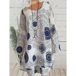 Berrylook Round Neck Printed Shift Dress online sale, shoping, printed Shift Dresses, below the knee dresses, shift dress pattern