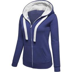 Berrylook Casual Colouring Long Sleeve Hoodie online sale, shoping, Colouring Hoodies, zip hoodie, white sweatshirt