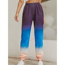 Berrylook Fashion gradient elastic waist casual pants online shopping sites, clothes shopping near me, Gradient Casual Pants, found on Bargain Bro India from Berrylook for $23.95