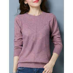 Berrylook Short High Collar Elegant Plain Long Sleeve Knit Pullover online sale, sale, Solid Pullover, cardigan sweater, cropped sweater