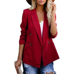 Berrylook Notch Lapel Plain Blazers online fashion store womens blazer jacket fitted blazer womens