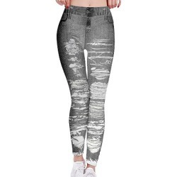 Berrylook Fashion 3D printed imitation denim leggings online shopping sites, online shop, legging, high waisted leggings
