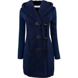 Berrylook Hooded Decorative Buttons Plain Coats online, clothing stores, black jacket womens, ladies jacket