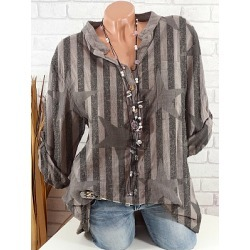 Berrylook V Neck Printed Long Sleeve Blouse online sale, shoppers stop, printing Blouses, peasant blouse, going out tops