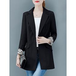Berrylook Fashion Slim Color Matching Blazer online sale, cheap online stores, Long Blazers, navy blue blazer women, fitted blazer womens