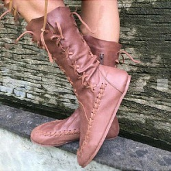 Berrylook Fashion ladies pure color side zipper tassel mid boots stores and shops, online sale,
