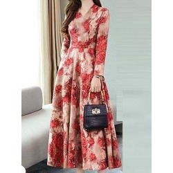 Berrylook Waist Temperament Thin Print Dress clothing stores, online shopping sites, shirt dress, semi formal dresses found on MODAPINS from Berrylook for USD $10.95