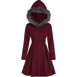 Berrylook Women's casual hooded fur slim double-breasted coat online sale, cheap online shopping sites, leather jacket, warm jackets for women