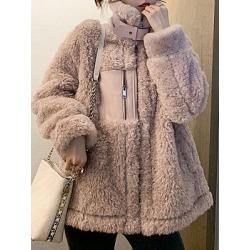 Berrylook Collar zipper female Coat stores and shops, clothes shopping near me, Long Coats, fall jackets, long jackets for women