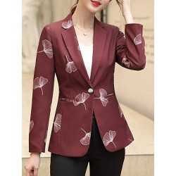 Berrylook Slim-fit printed suit Blazer cheap online stores, shop, Long Blazers, black blazer for women, womens blazer jacket