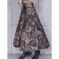 Berrylook Autumn and winter new printed woolen skirt clothes shopping near me, fashion store, found on Bargain Bro India from Berrylook for $31.95
