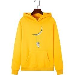 Berrylook Fashion Printed Long Sleeve Hoodie online sale, sale, Long Hoodies, sweater hoodie, zip up hoodies