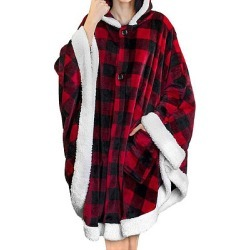 Berrylook Hooded cloak casual gold velvet pocket soft plush cloak online shopping sites, online shop, cool sweatshirts, hooded sweatshirt found on Bargain Bro Philippines from Berrylook for $32.95