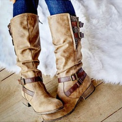 Berrylook Mid boots women's boots stores and shops, online sale,