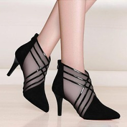 Berrylook Fashion ladies pointed mesh stilettos single shoes stores and shops, shoppers stop, splice Stiletto Heels, found on MODAPINS from Berrylook for USD $27.95