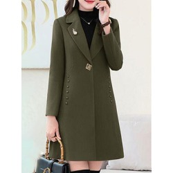 Berrylook Mid-length casual woolen coat online, online shop, army jacket womens, winter jacket found on Bargain Bro India from Berrylook for $34.95