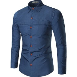 Berrylook Turn Down Collar Solid Men Shirts clothing stores, clothes shopping near me, Plain Men Shirts,