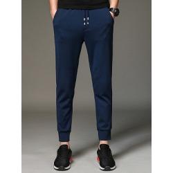 Berrylook Plain Elastic Waist Pocket Men's Casual Jogger Pants clothes shopping near me, sale, Plain Men's Casual Pants,