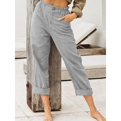 Berrylook Commuting Fashion Straight Casual Pants online shop, sale,