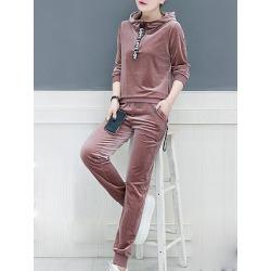 Berrylook Active Plain Long Sleeve Hoodie Suit clothing stores, sale, cheap hoodies, cool hoodies