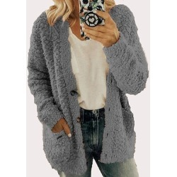 Berrylook Woolen Fleece Jacket Plus Size Top online, clothes shopping near me, womens casual jackets, coats & jackets found on Bargain Bro from Berrylook for USD $13.64