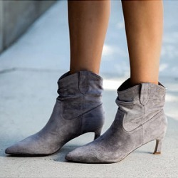 Berrylook Women's Fashion Mid Heel Pointed Boots online, shoping, Solid High Heels Boots, found on Bargain Bro Philippines from Berrylook for $28.95