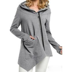 Berrylook Casual Plain Long Sleeve Hoodie online shop, online sale, plain Hoodies, mens sweatshirts, cool hoodies