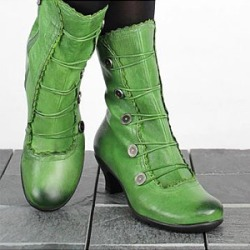 Berrylook Retro shaped and low boots with large size women's boots shoppers stop, online sale,