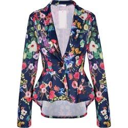 Berrylook Notch Lapel Asymmetric Hem Floral Printed Blazer clothing stores online velvet blazer womens blazers for women