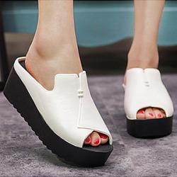 Berrylook Plain High Heeled Peep Toe Casual Wedges online, fashion store, Plain Wedges,
