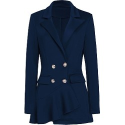 Berrylook Notch Lapel Plain Coat online sale shoping plain Coats mens coats sale bubble coat