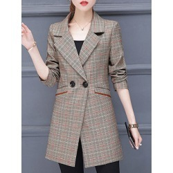 Berrylook Fold-over collar mid-length Blazer cheap online stores, sale, Long Blazers, fitted blazer womens, black blazer