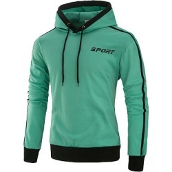 Berrylook Drawstring Color Block Men Hoodie clothing stores, clothes shopping near me, Color Men Hoodies,