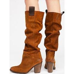 Plain  Chunky  High Heeled  Round Toe  Date Outdoor  Knee High High Heels Boots