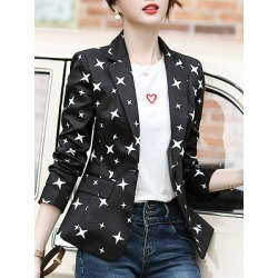 Fashion print suit Blazer