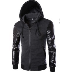 Berrylook Hooded Patchwork Plain Men Jackets clothing stores, clothes shopping near me, Plain Men Jackets,