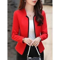 Berrylook Fashion slim suit Blazer cheap online stores, shoping, Long Blazers, red blazer, women's casual blazers