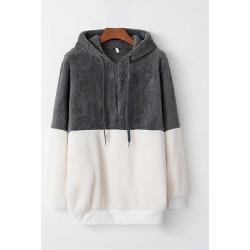 Berrylook Casual Colouring Long Sleeve Hoodie online sale, sale, Colouring Hoodies, best hoodies, white sweatshirt