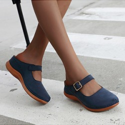 Berrylook Plain Round Toe Casual Comfort Slippers clothing stores, clothes shopping near me,